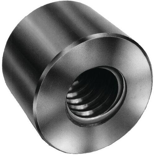Porca redonda em aço com rosca trapezoidal direita