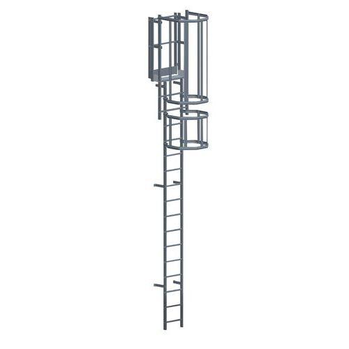 Kit completo de escada com guarda-corpo – 3m de altura