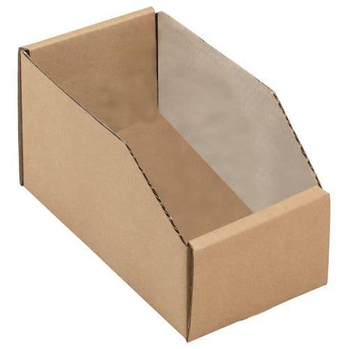Caixas de bico cartão kraft castanho - Comprimento 200 mm