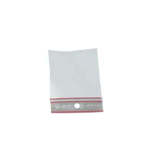 Saqueta plástica Minigrip – 100µ – Padrão