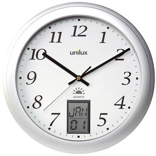 Relógio de parede radiocomandado com indicação digital da data