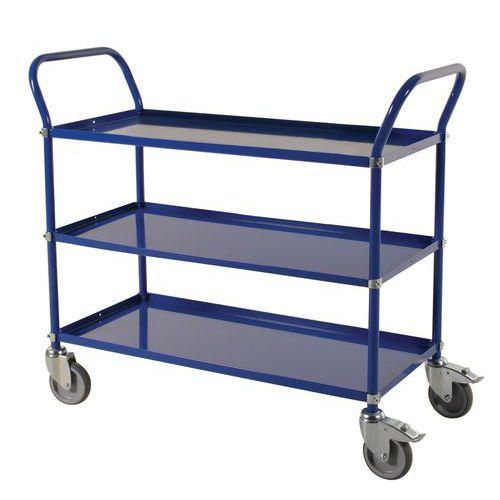 Carro de plataformas em metal - 3 plataformas - Capacidade de 400 kg