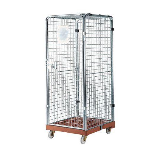 Contentor móvel de segurança - Base plástica - Capacidade 500 kg