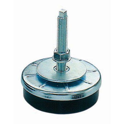 Suporte antivibrações com passo fino para cargas médias a pesadas - Haste aço galvanizado - Tamanho roscagem M