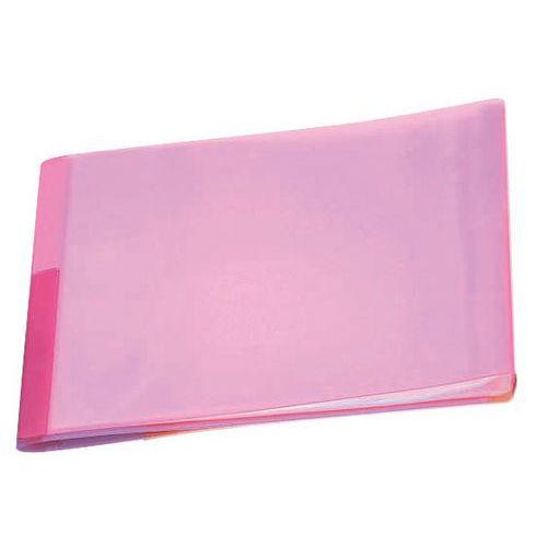 Pasta de proteção de documentos translúcida – 40 faces – conjunto de 6