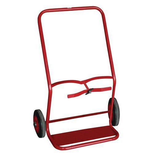 Transportador porta-garrafas em aço – 100kg – Roda em borracha