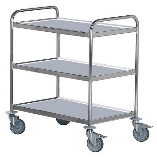 Carro inox - 3 plataformas - Capacidade 130 kg