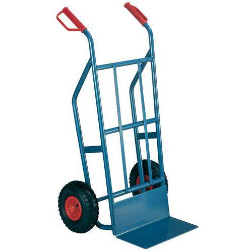 Porta-cargas aço - Rodas pneumáticas - Capacidade 500 kg