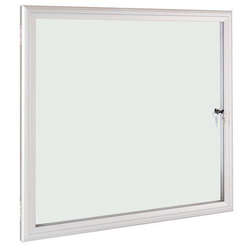Vitrina de interior e exterior ESG – fundo em alumínio – porta de segurança em vidro