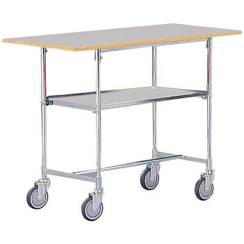 Mesa móvel - 2 plataformas - Capacidade de 100 kg