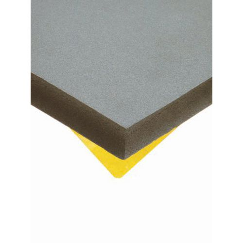 Placa espuma - Borracha celular - Adesiva - Base NBR-PVC