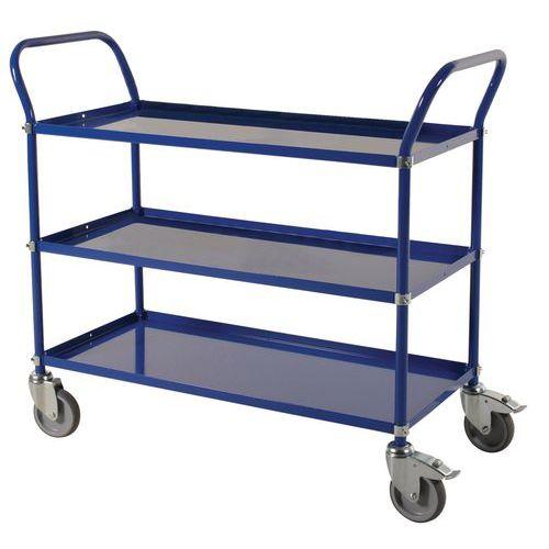 Carro de plataformas em metal - 3 plataformas - Capacidade de 250 kg