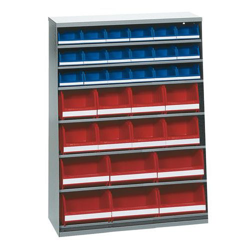 Armário com 40 caixas de bico - Baixo - Sem porta