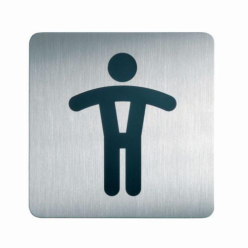 Pictograma quadrado para sanitários – Homens