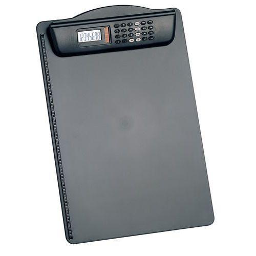 Porta-blocos com calculadora