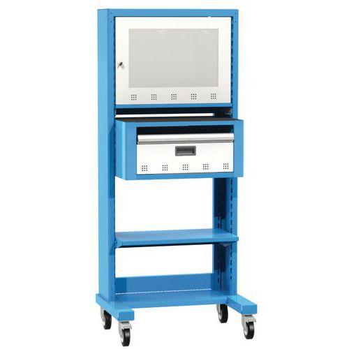 Posto informático para ecrã plano - Fixo ou móvel