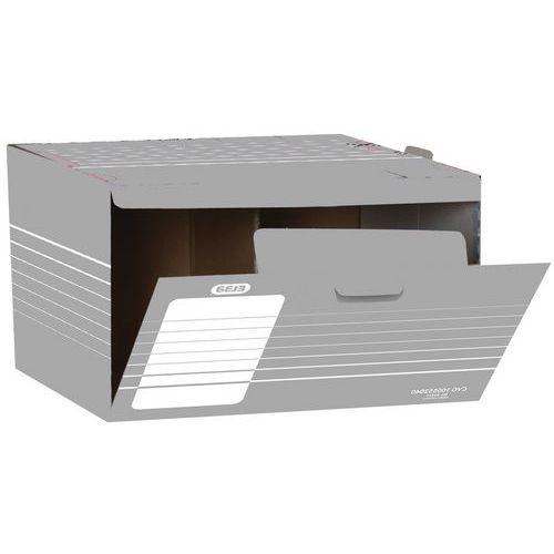 Conjunto de 10 caixas de arquivo de abertura frontal