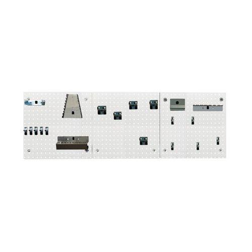Painel e ganchos Perfo Light - kit C
