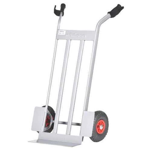 Porta-cargas em aço com aba fixa e rodas antifuros - 350kg