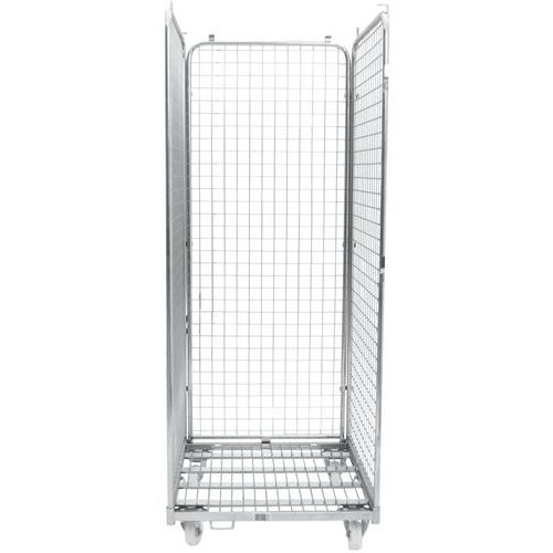 Contentor móvel - Base em aço zincado - Capacidade: 400 kg - Manutan