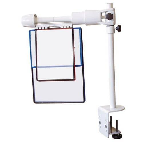 Coluna extensível para porta documentos com grampo de fixação em tampo - Tarifold - Rotor Revo