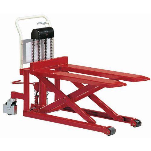 Porta-paletes manual de grande elevação - Garfo com comprimento de 1080 mm - Força de 500 kg