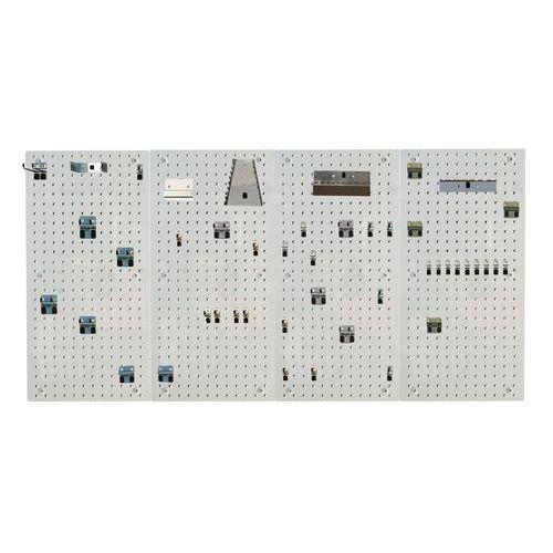 Painel e ganchos Perfo Light - kit F