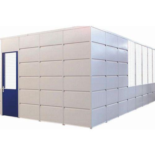 Divisória simples parede em chapa de aço - Painel integral - Altura 2,51 m