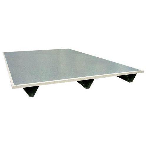 Plataforma paletizável para cabinas de parede dupla em chapa ou chapa/melamina
