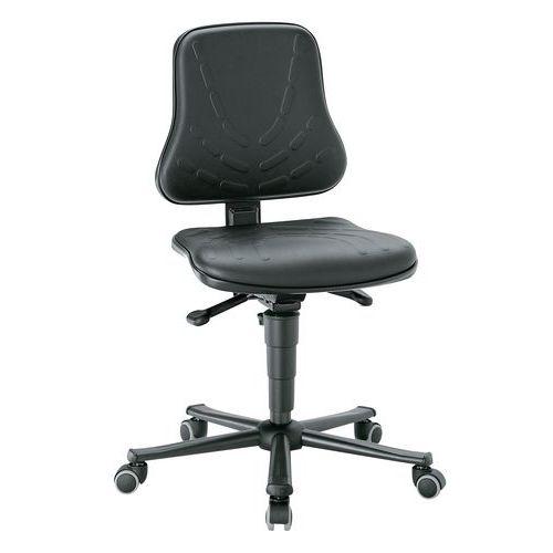 Cadeira de oficina baixa Bimos Solitec - Couro sintético