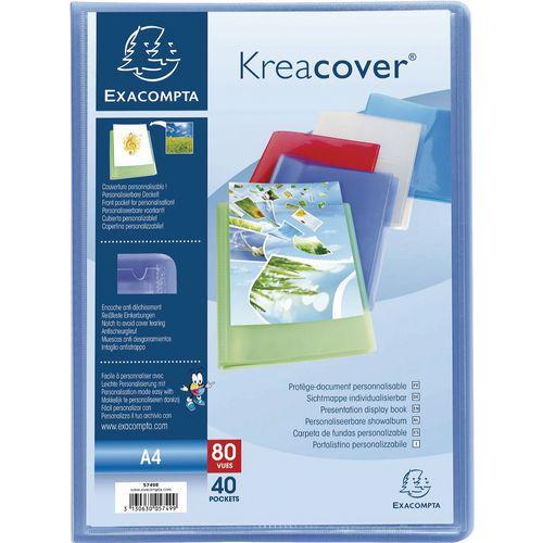 Pasta de proteção de documentos semirrígida Kreacover A4