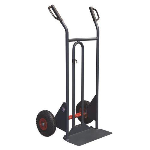 Transportador ergonómico em aço – 350kg – Roda antifuros