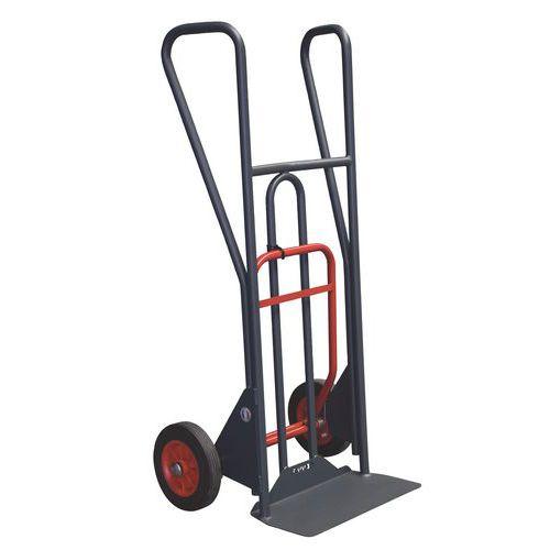 Porta-cargas ergonómico de 350 kg com basculamento assistido – Pegas fechadas – Rodas em borracha