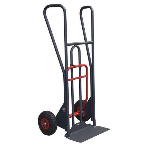 Porta-cargas ergonómico de 350kg com basculamento assistido – Pegas fechadas – Rodas pneumáticas