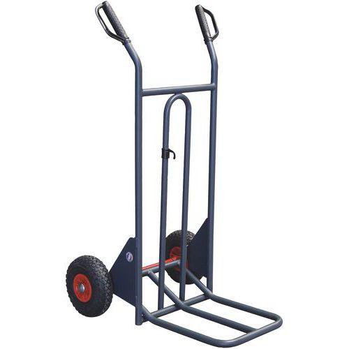 Transportador ergonómico – 350kg – Basculamento assistido – Rodas pneumáticas