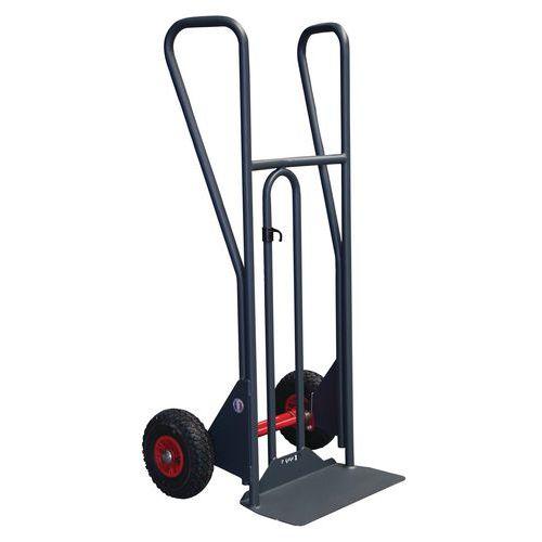 Porta-cargas ergonómico de 350kg com basculamento assistido – Pegas fechadas – Rodas antifuros
