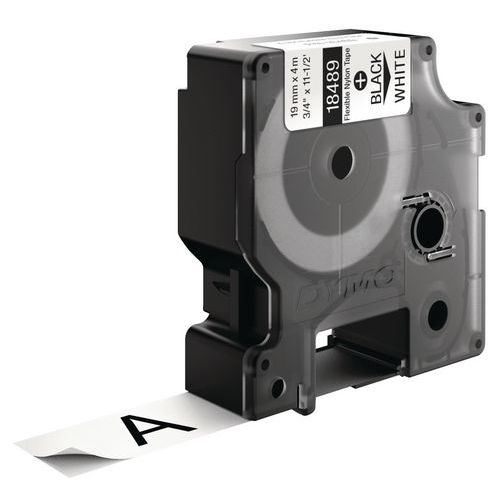 Cassetes de fita Dymo Rhino Pro ID1 Nylon flexível