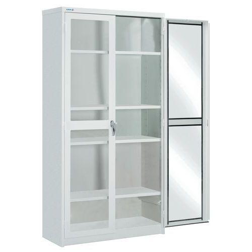 Armário com portas de vidro - Duas portas