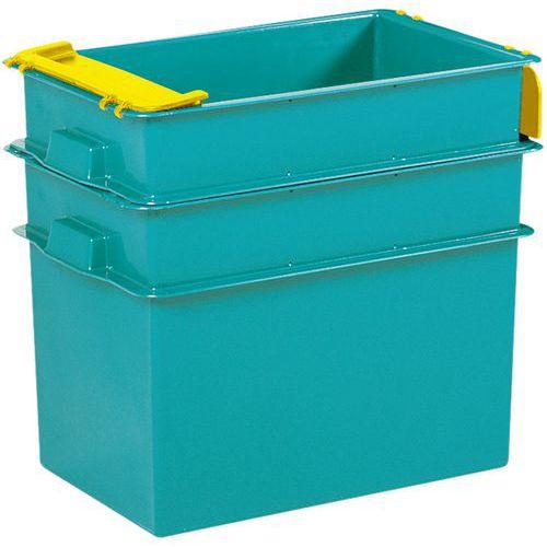 Caixa empilhável - Comprimento 594 a 805 mm - 70 a 200 L