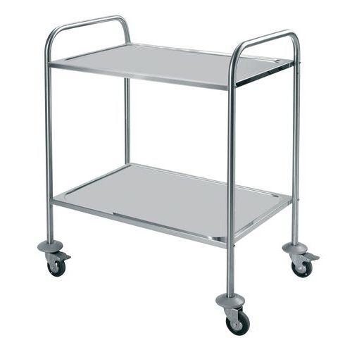 Carro inox - 2 plataformas - Capacidade 60 kg