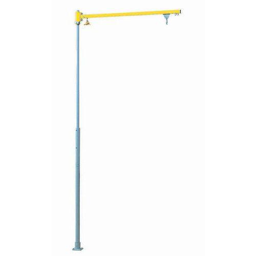 Grua giratória de coluna - Capacidades 10 a 16 kg - Para fixação no pavimento