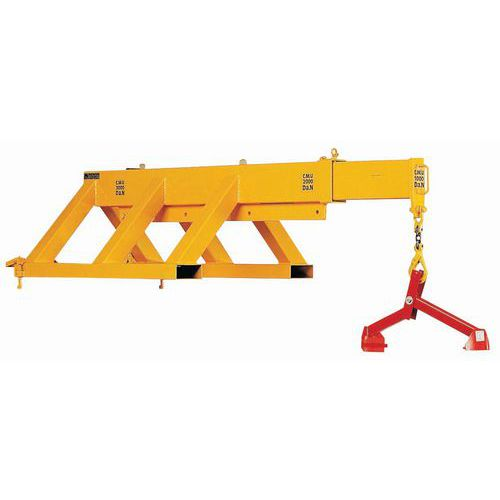 Braço telescópico para empilhador de garfos - Capacidade 1000 a 3000 kg