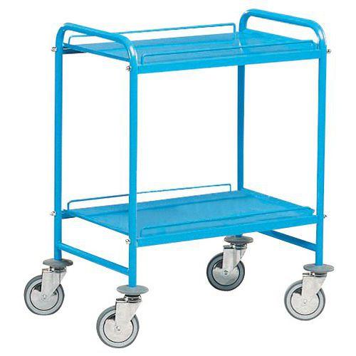Carro de plataformas em metal - 2 plataformas - Capacidade de 150 kg