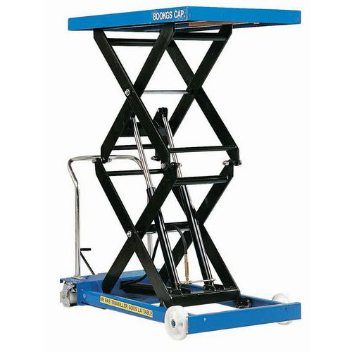 Mesa elevatória móvel - Capacidade de carga de 800 kg