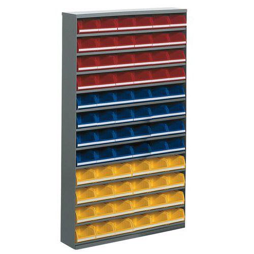 Armário com 72 caixas de bico - Baixo - Sem porta