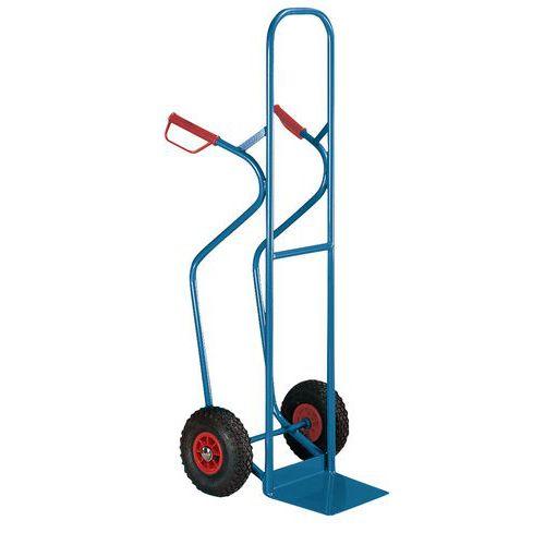 Porta-cargas aço para caixas - Rodas pneumáticas - Capacidade 300 kg