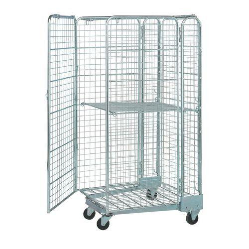 Contentor de segurança móvel e encaixável de 400kg – Base em aço