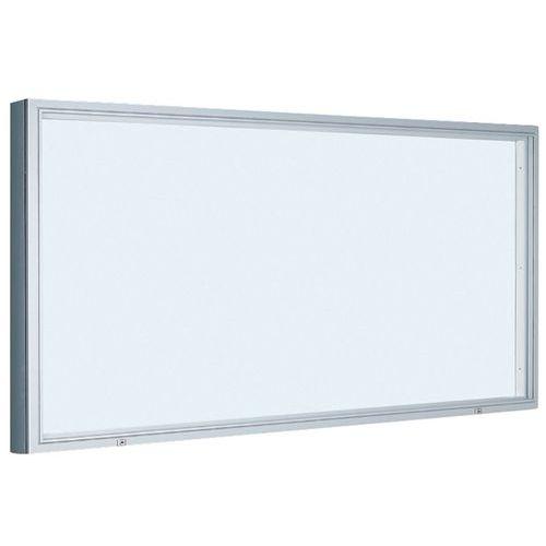 Vitrina de exterior de estilo italiano – fundo em alumínio – porta em vidro de segurança