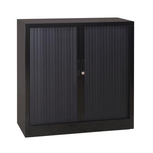 Armário baixo com portas de persiana em kit - Largura 100 cm