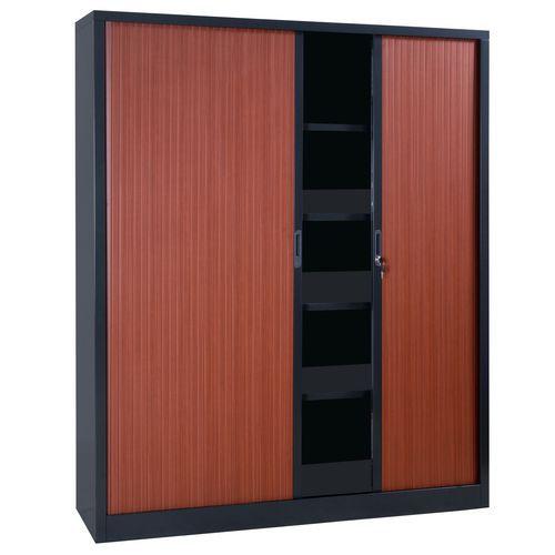 Armário extra largo com portas de persiana em kit - Largura 160 cm